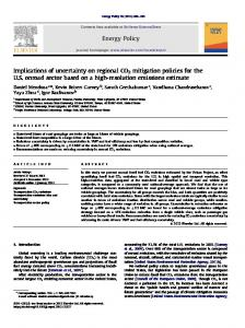 Implications of uncertainty on regional CO2 mitigation ... - Kevin Gurney