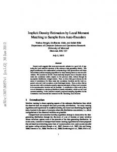 Implicit Density Estimation by Local Moment Matching to Sample from ...