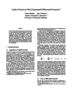 Implicit Functions With Guaranteed Differential ...