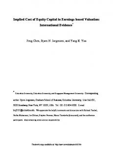 Implied Cost of Equity Capital in Earnings-based ... - SSRN papers