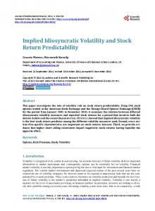 Implied Idiosyncratic Volatility and Stock Return Predictability