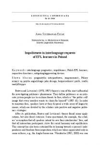 Impoliteness in interlanguage requests of EFL ...