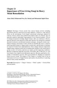 Importance of Free-Living Fungi in Heavy Metal ... - Springer Link
