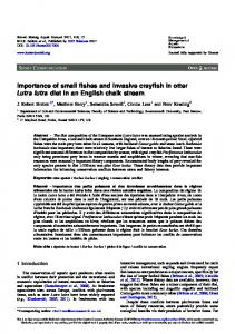 Importance of small fishes and invasive crayfish in otter Lutra lutra diet ...