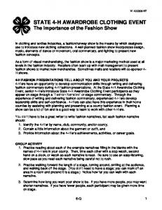 Importance of the Fashion Show