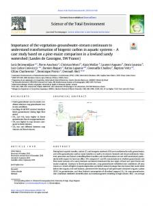 Importance of the vegetation-groundwater-stream