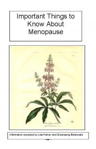 Important Information About Menopause Booklet - Greensong ...