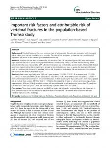 Important risk factors and attributable risk of ... - Semantic Scholar