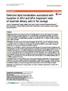 important roles of essential dietary salts in fat storag - Nutrition ...