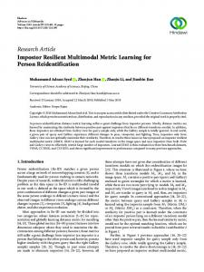 Impostor Resilient Multimodal Metric Learning for Person ...