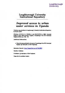 Improved access to urban water services in Uganda - Loughborough ...