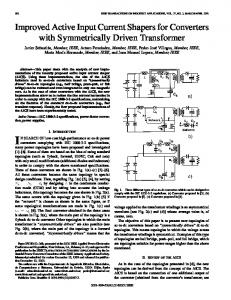 Improved active input current shapers for converters with ... - IEEE Xplore