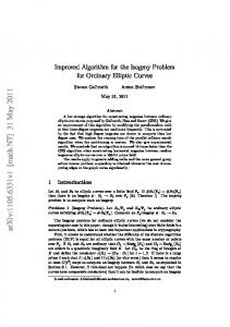 Improved Algorithm for the Isogeny Problem for Ordinary Elliptic Curves
