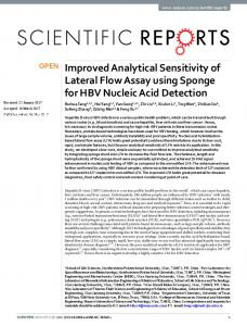 Improved Analytical Sensitivity of Lateral Flow Assay