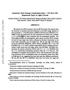 Improved Dark Energy Constraints from~ 100 New CfA Supernova ...