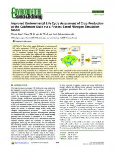 Improved Environmental Life Cycle Assessment of ... - ACS Publications