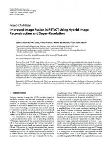 Improved Image Fusion in PET/CT Using Hybrid Image ... - CiteSeerX