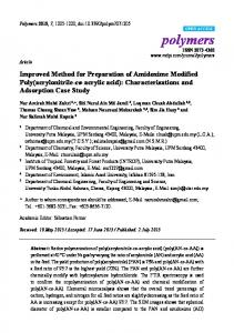 Improved Method for Preparation of Amidoxime