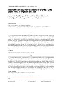 Improved Morphology and Biocompatibility of