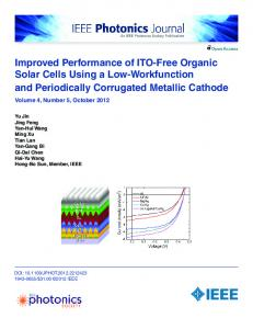 Improved Performance of ITO-Free Organic Solar Cells ... - IEEE Xplore