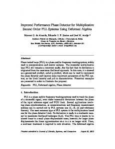 Improved Performance Phase Detector for