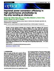 Improved power conversion efficiency in high ... - OSA Publishing