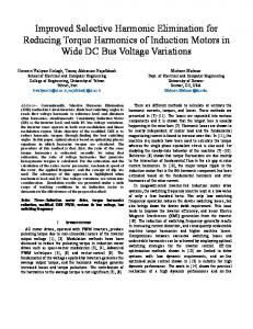 Improved Selective Harmonic Elimination for Reducing Torque ... - arXiv