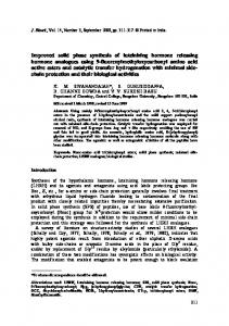 Improved solid phase synthesis of luteinizing hormone ... - Springer Link
