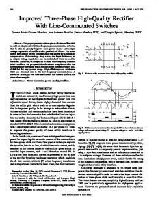 Improved Three-Phase High-Quality Rectifier With Line ... - DEI UniPd