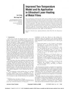 Improved Two-Temperature Model and Its Application in Ultrashort ...