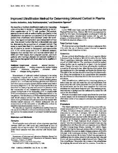 Improved Ultrafiltration Method for Determining ... - Clinical Chemistry