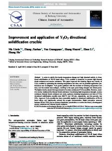 Improvement and application of Y2O3 directional ... - CyberLeninka