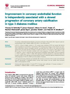 Improvement in coronary endothelial function is independently ...