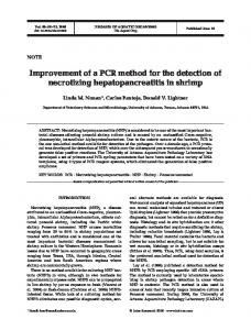 Improvement of a PCR method for the detection of necrotizing ...
