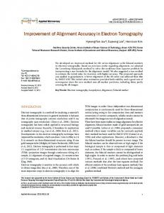 Improvement of Alignment Accuracy in Electron ...