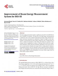 Improvement of Beam Energy Measurement System for BES-III