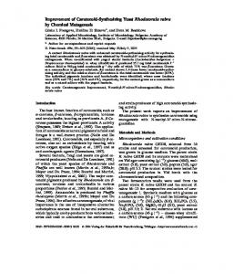 Improvement of Carotenoid-Synthesizing Yeast ... - Semantic Scholar