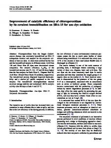Improvement of catalytic efficiency of chloroperoxidase by its covalent ...