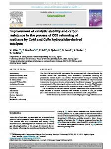 Improvement of catalytic stability and carbon