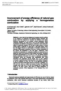 Improvement of energy efficiency of natural gas combustion by ...