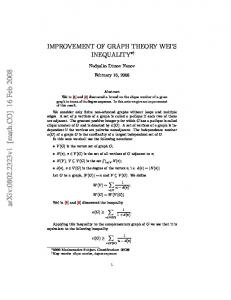 Improvement of graph theory Weis inequality