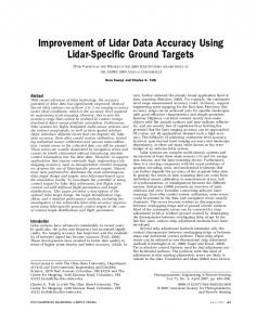 Improvement of Lidar Data Accuracy Using Lidar