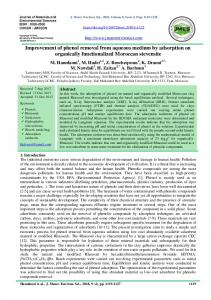 Improvement of phenol removal from aqueous medium by adsorption ...