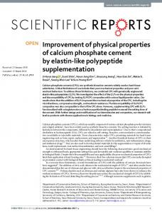 Improvement of physical properties of calcium phosphate cement by