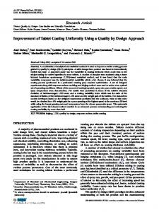 Improvement of Tablet Coating Uniformity Using a Quality by Design