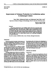 Improvement of Xylanase Production by ... - Semantic Scholar