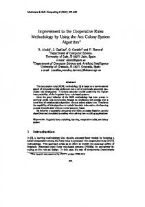 Improvement to the Cooperative Rules Methodology