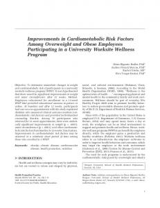 Improvements in Cardiometabolic Risk Factors Among Overweight ...