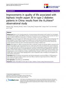 Improvements in quality of life associated with ... - Semantic Scholar