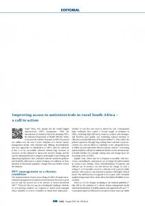 Improving access to antiretrovirals in rural South Africa - South African ...